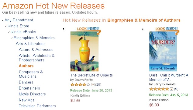 Dare I Call It Murder? #2 on Amazon's Hot New Releases